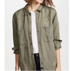 Rails Marcel Sage with stars green military jacket